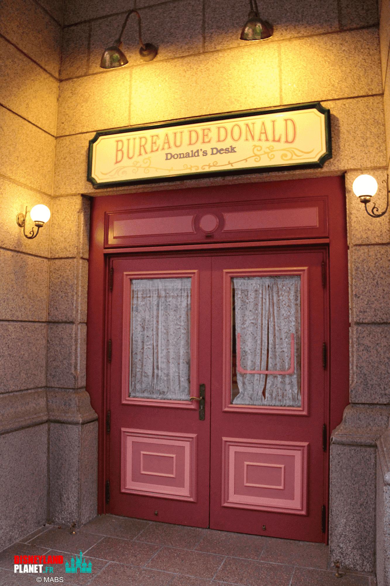 bureau donald disneyland paris