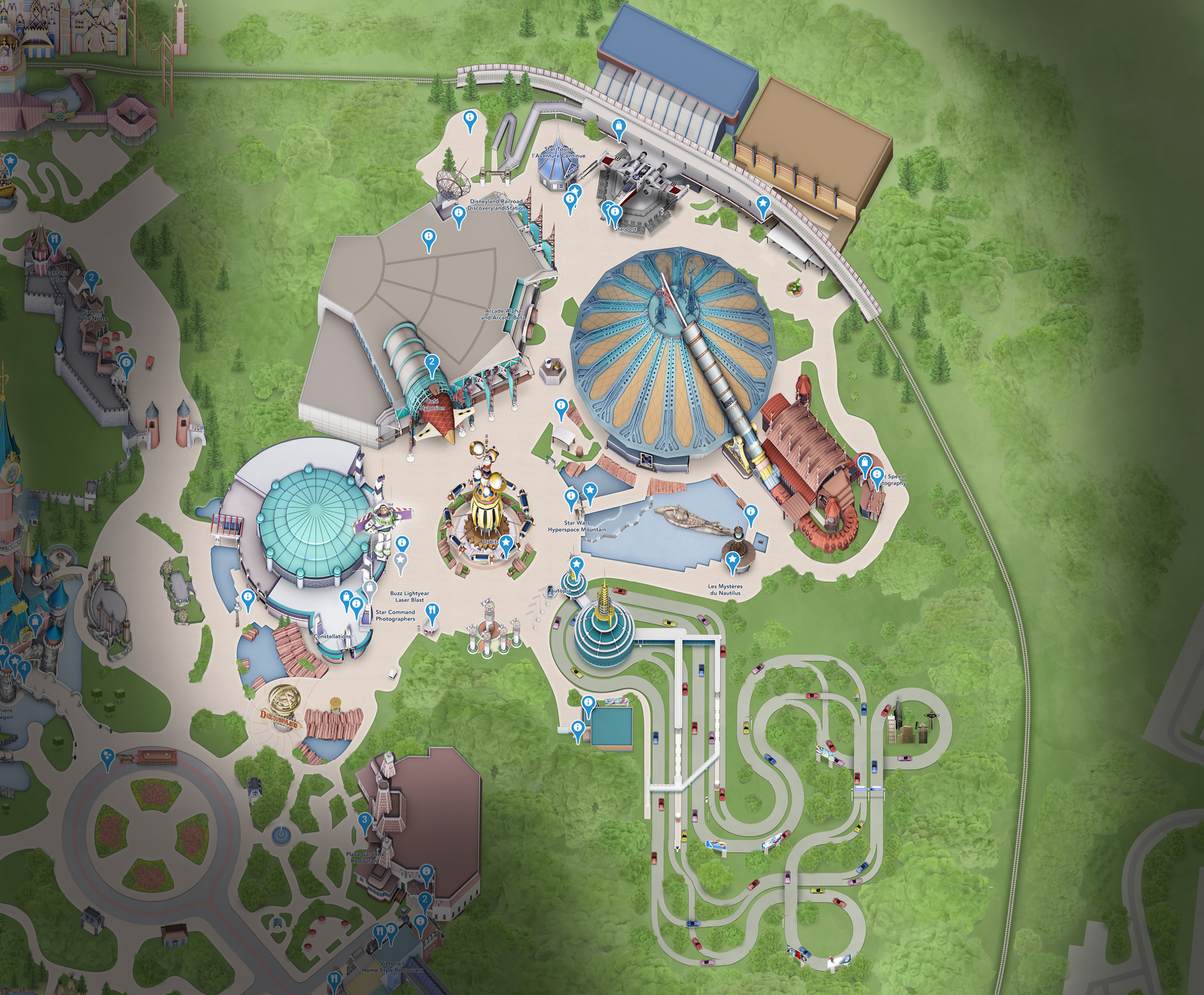 plan discoveryland disneyland paris