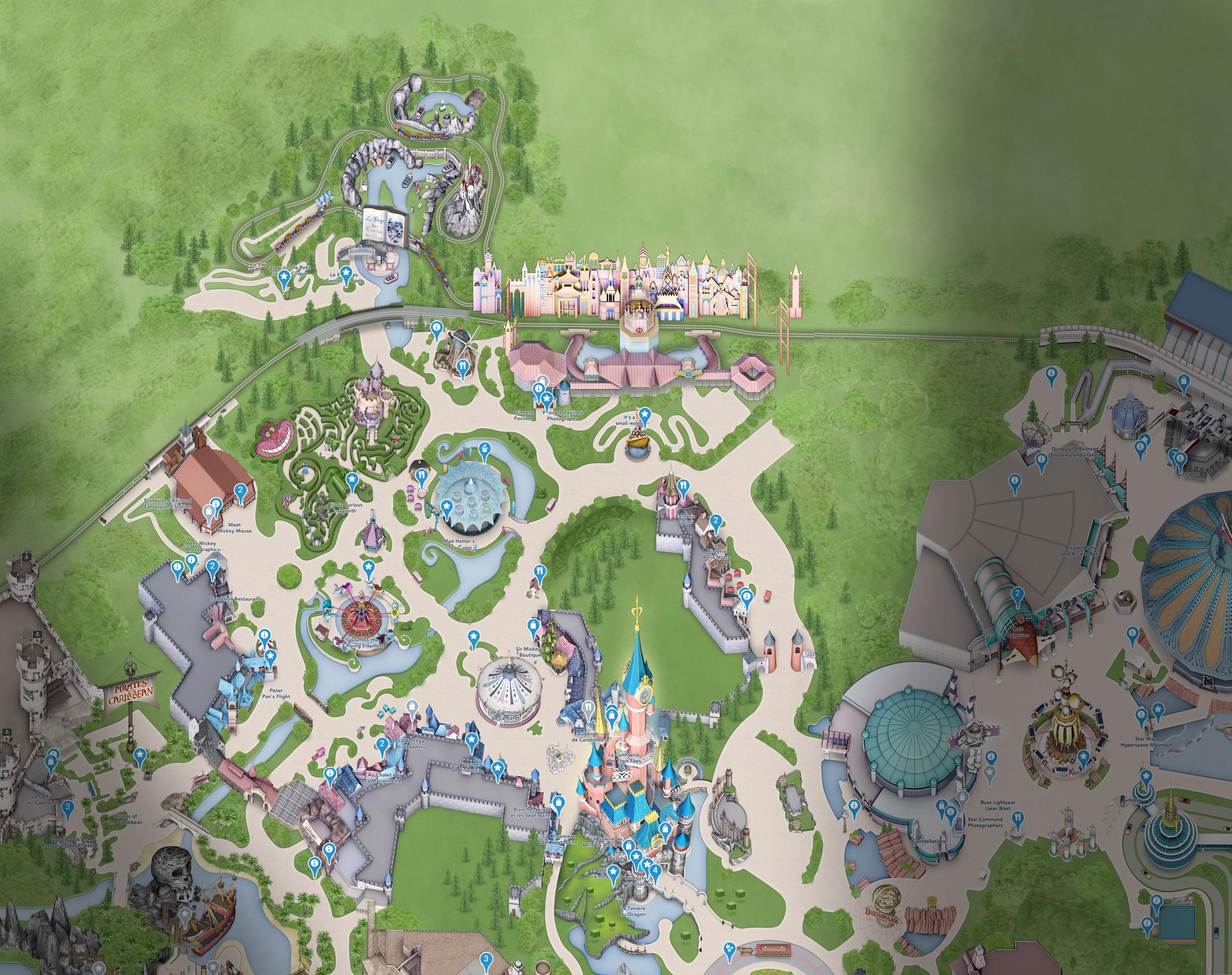 plan fantasyland disneyland paris