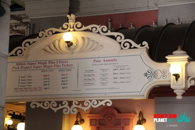 billeterie tarifs disneyland paris