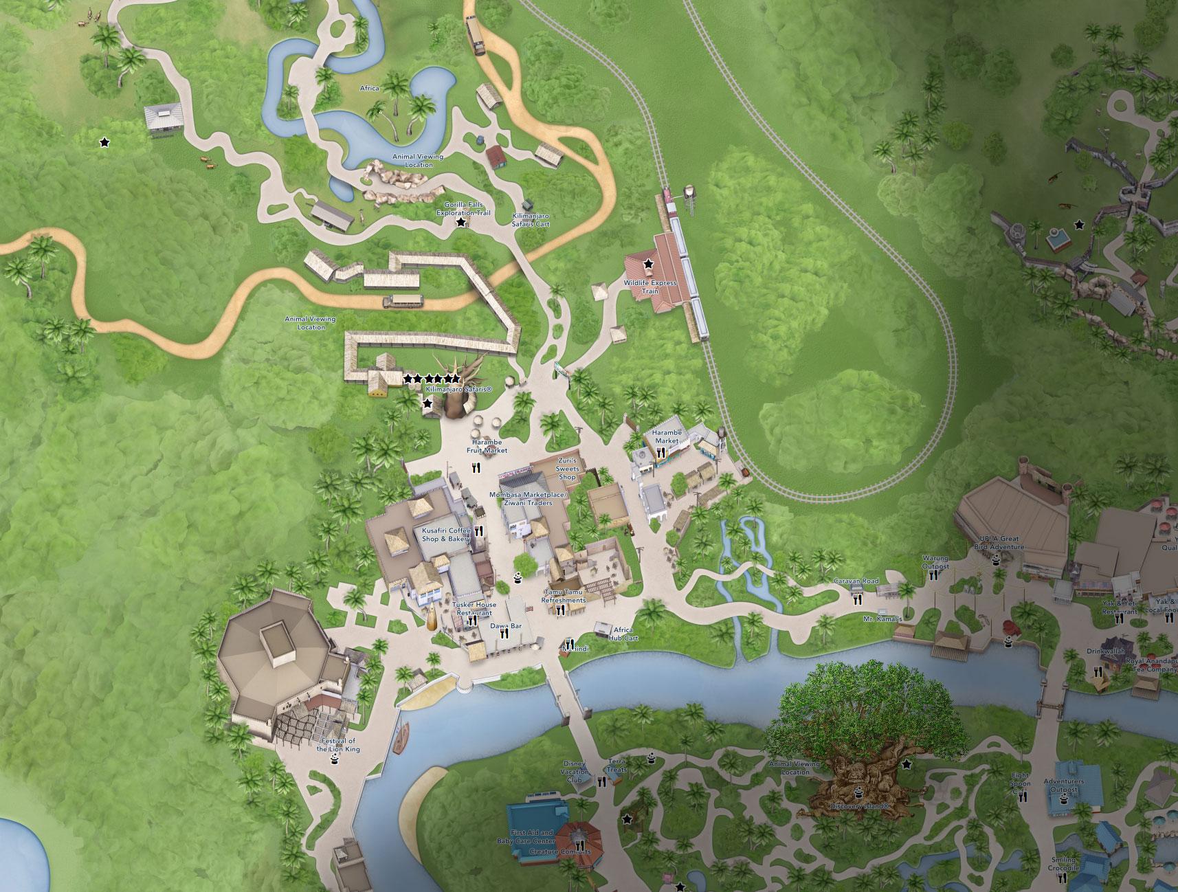 plan afrique animal kingdom floride disneyland
