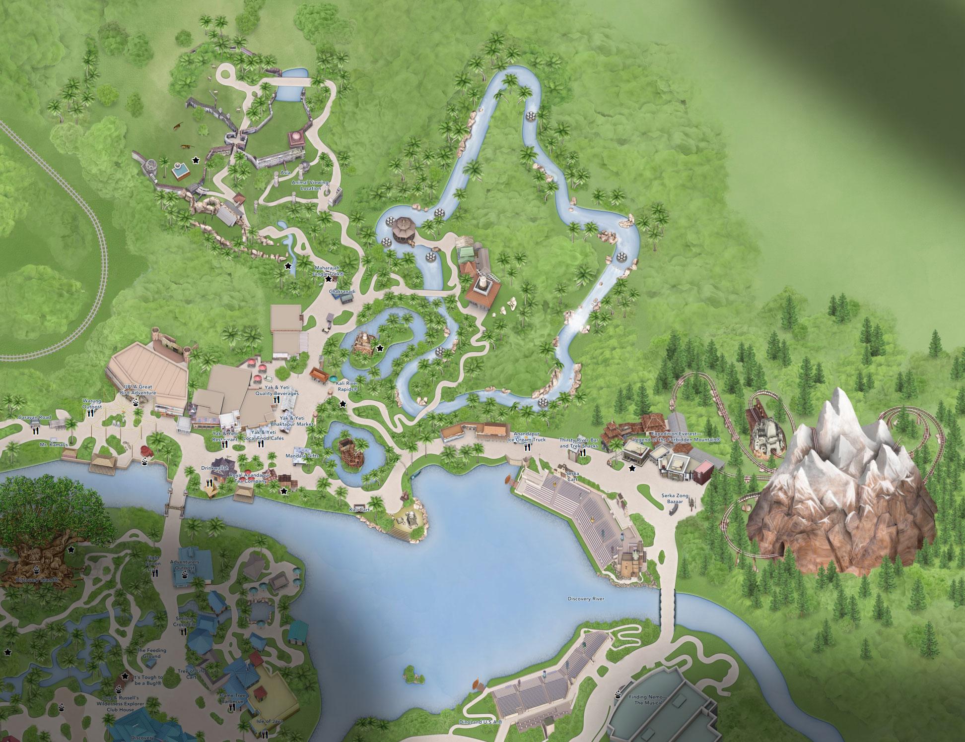 plan asie animal kingdom floride disneyland
