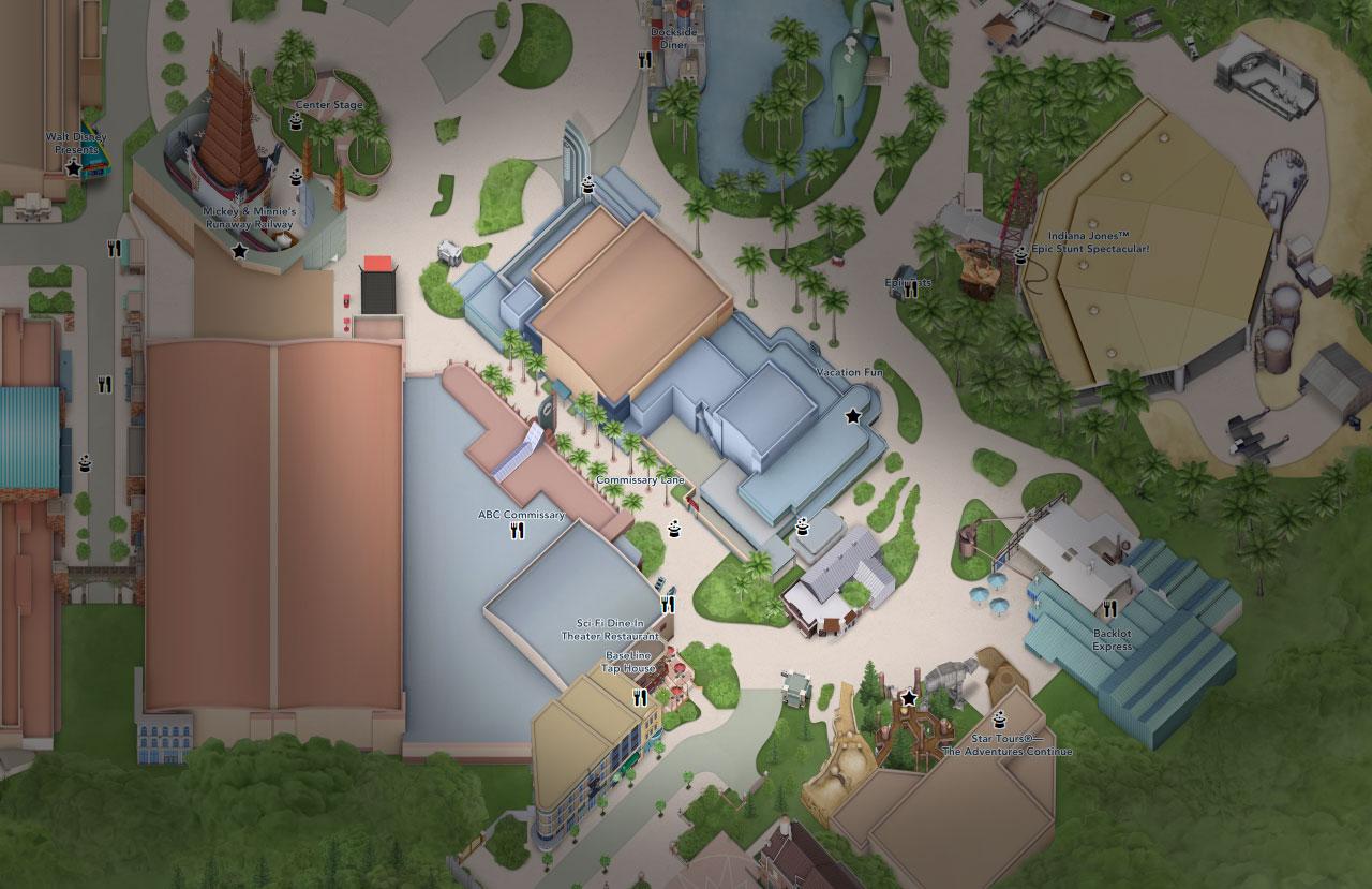 plan commissary lane hollywood studios floride disneyland