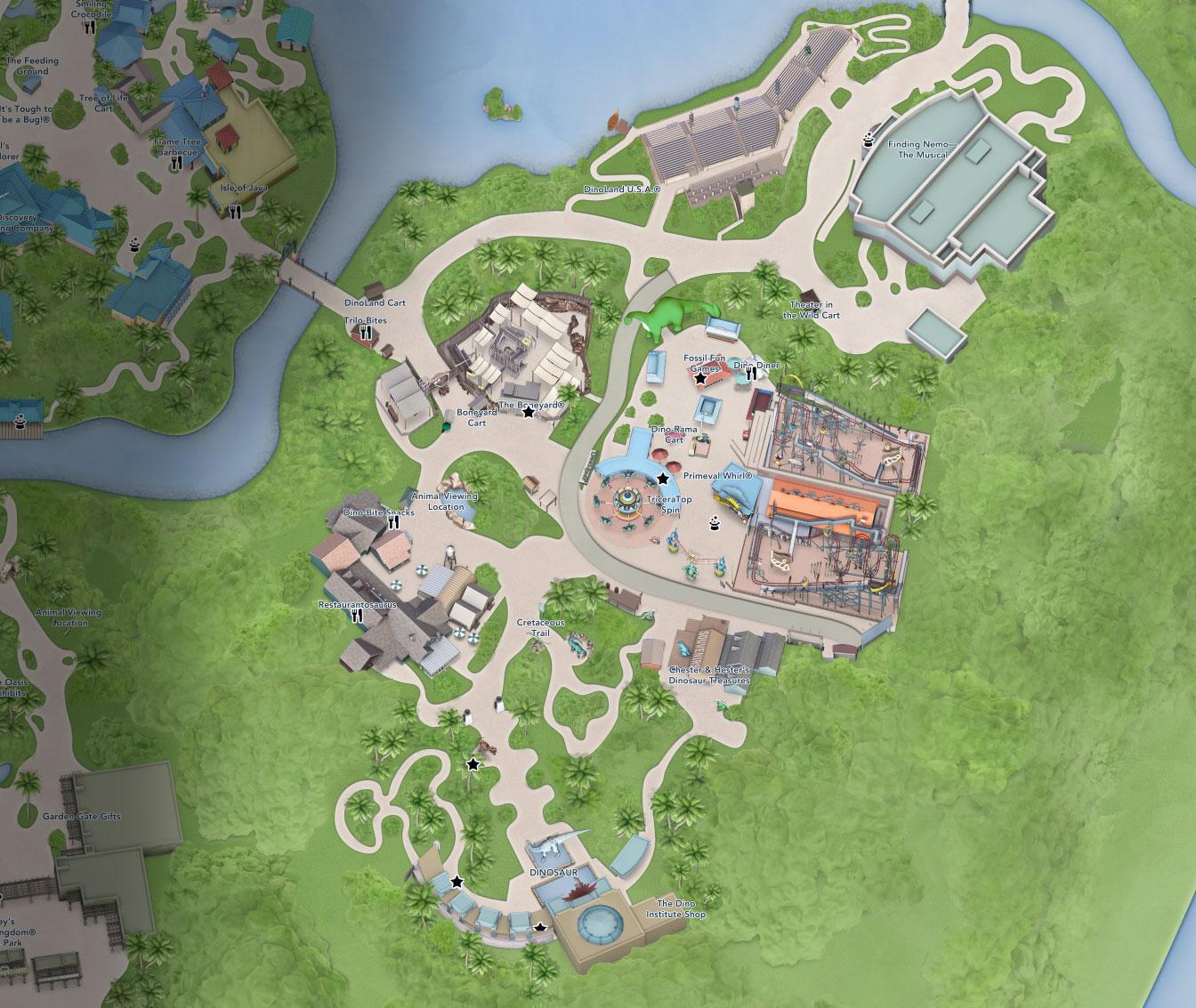 plan dinoland animal kingdom floride disneyland
