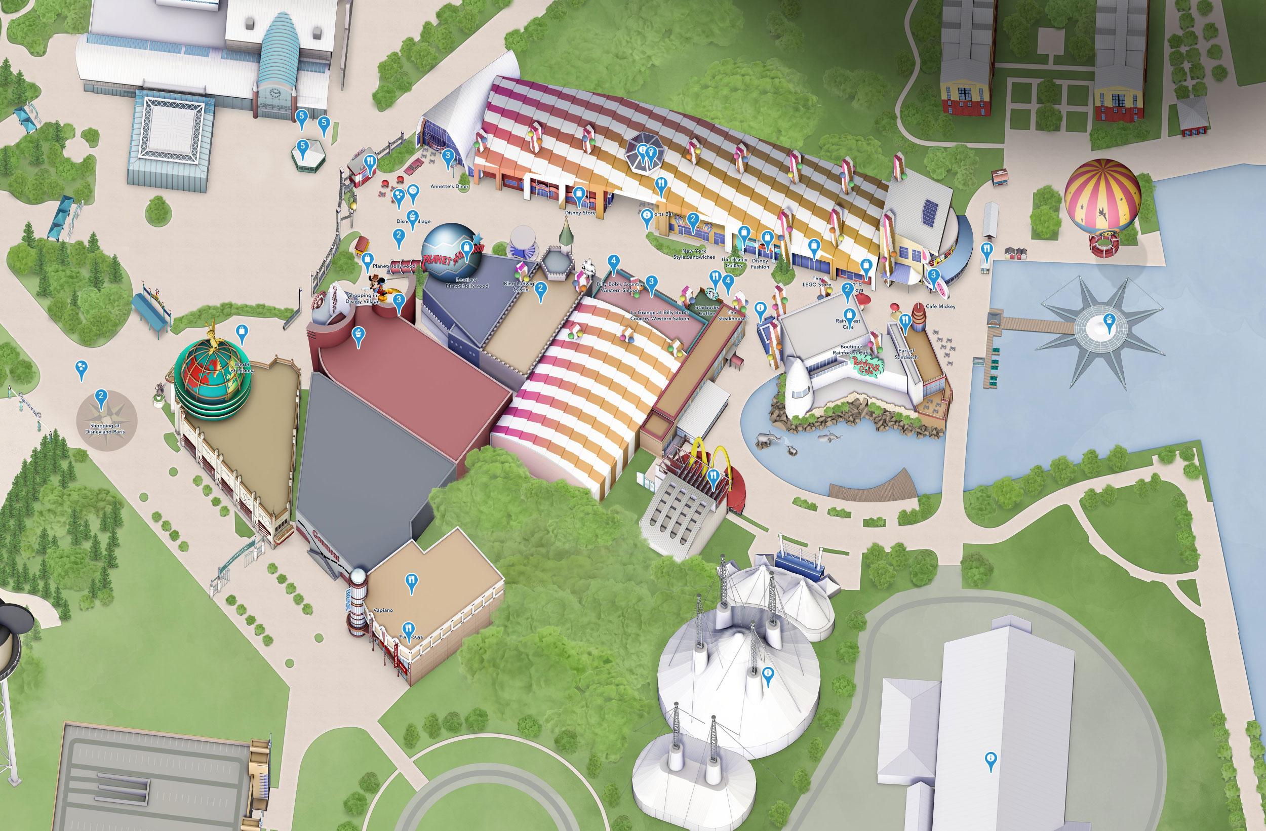 plan disney village disneyland paris
