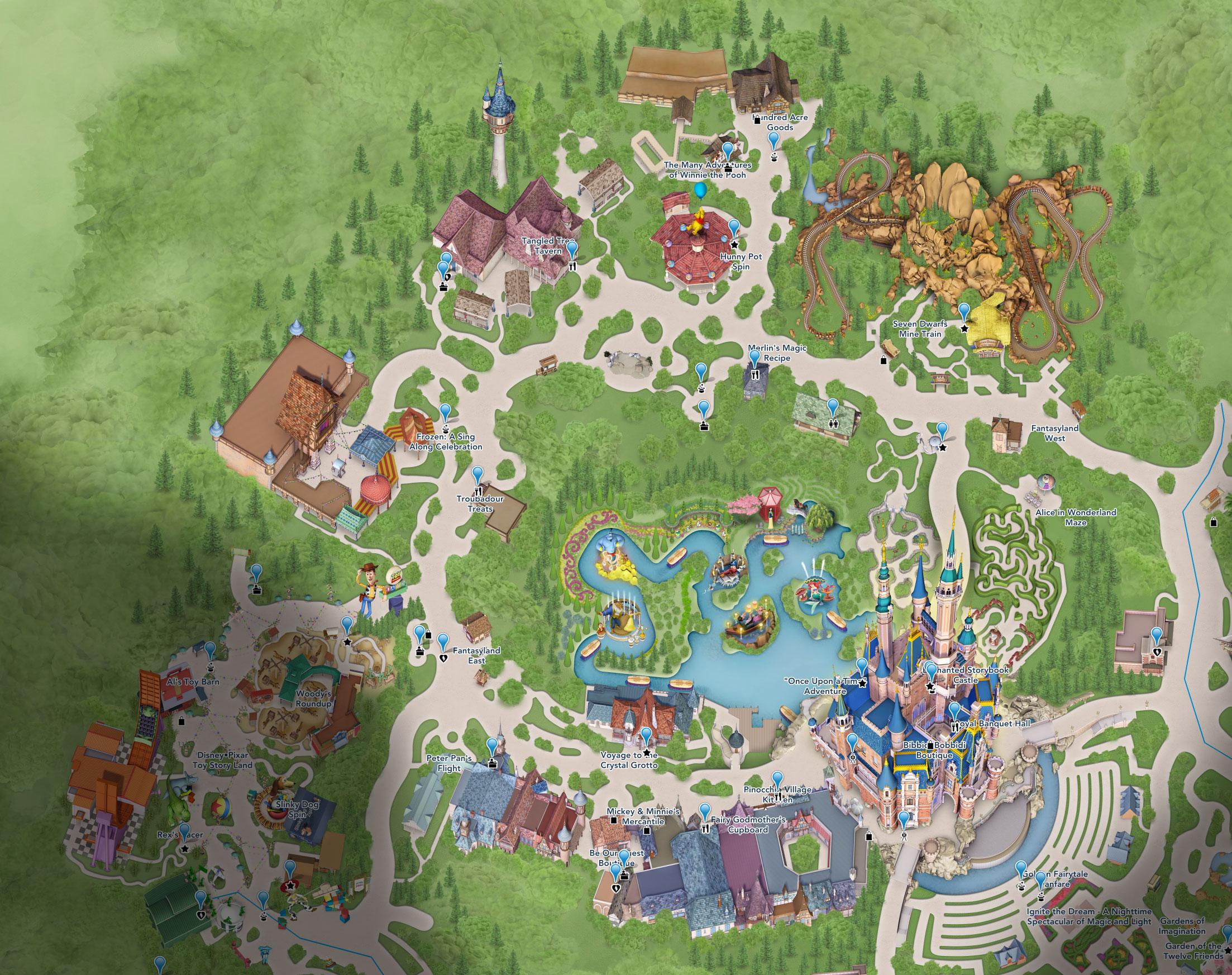 plan fantasyland shanghai disneyland