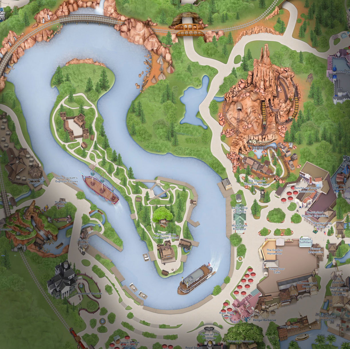 plan frontierland disneyland california