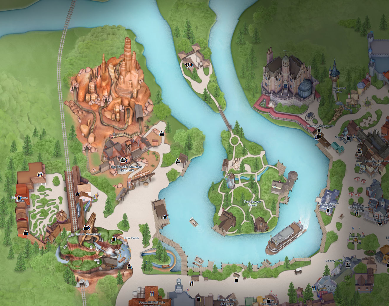 plan frontierland disney world florida