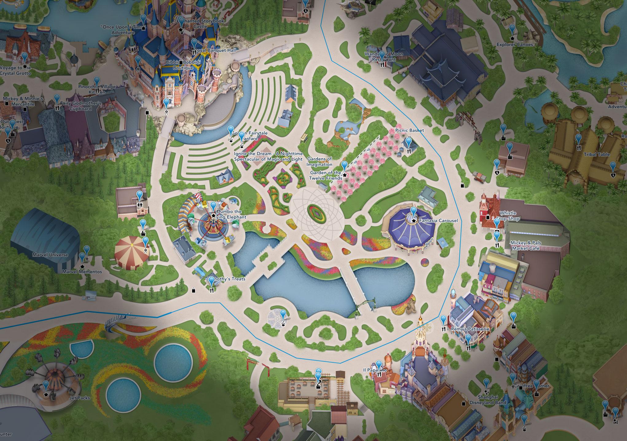 plan gardens imagination shanghai disneyland
