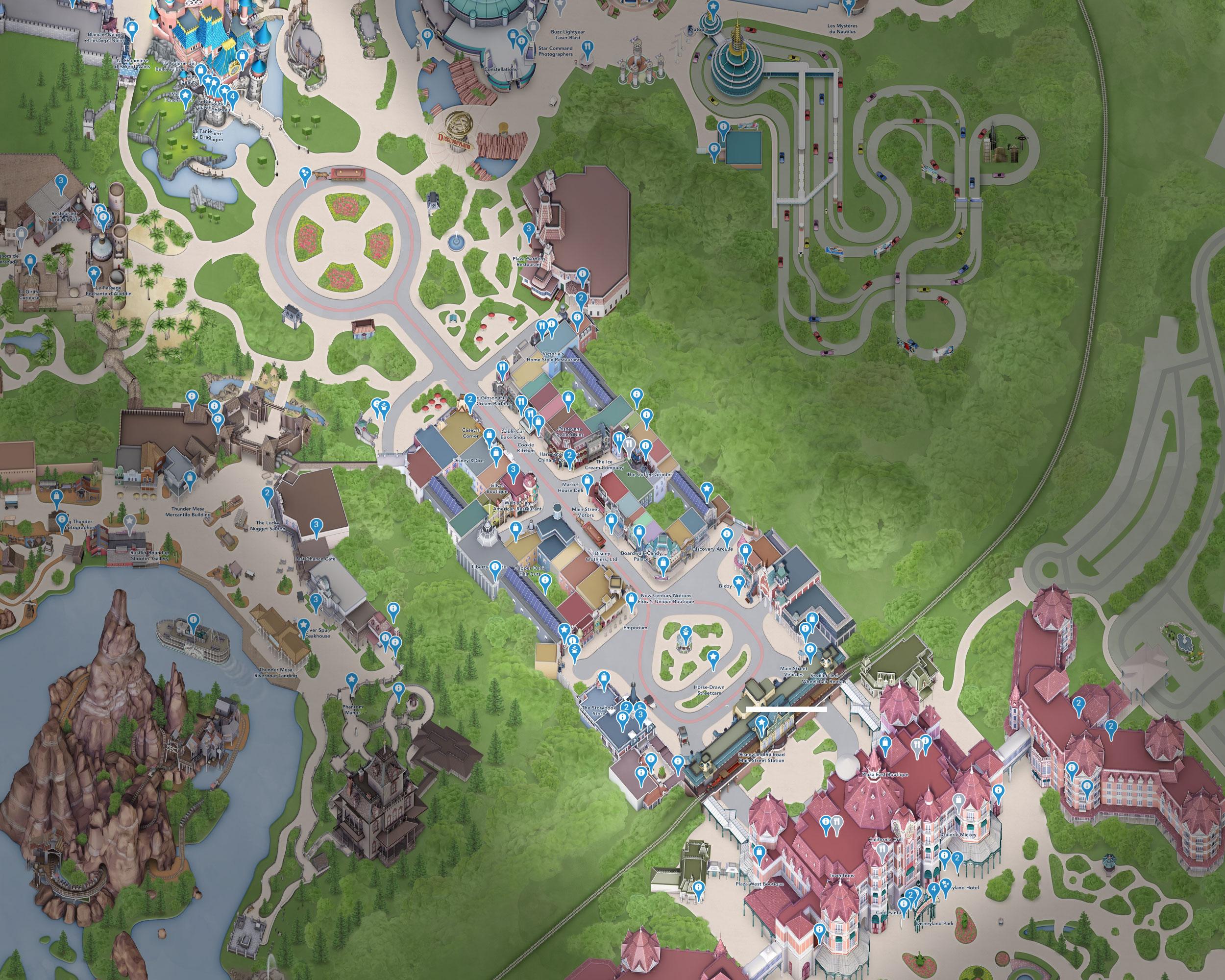 plan main street disneyland paris