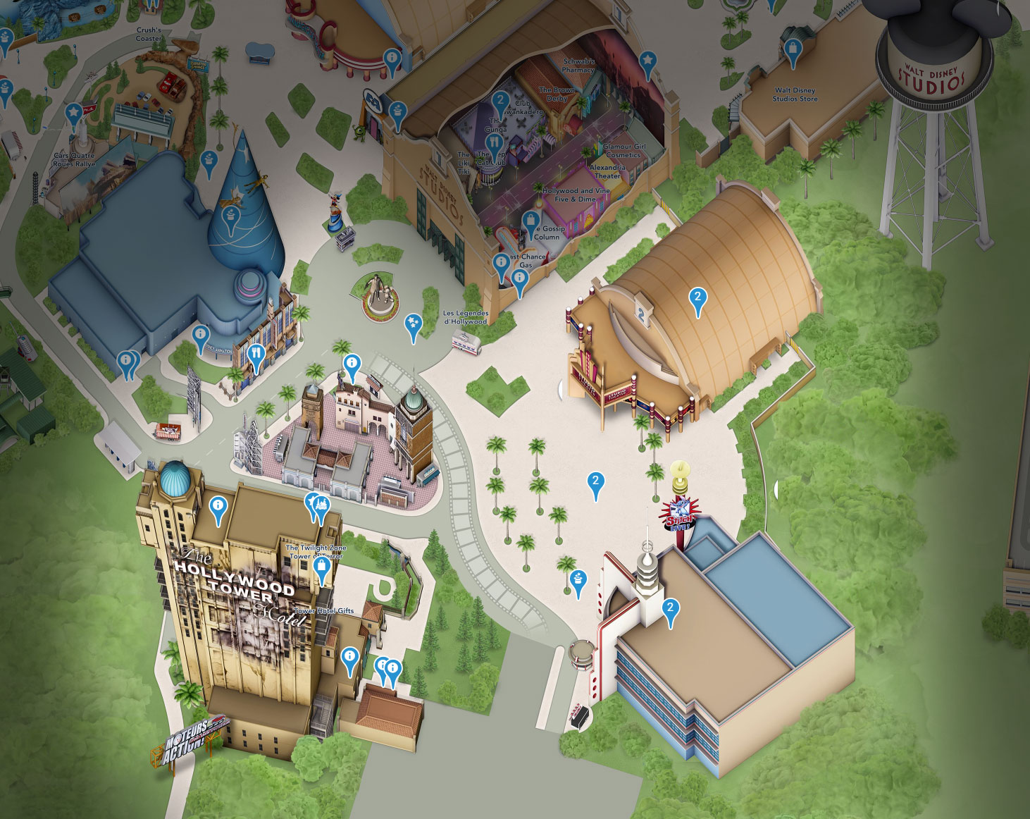 plan production courtyard walt studios disney disneyland paris