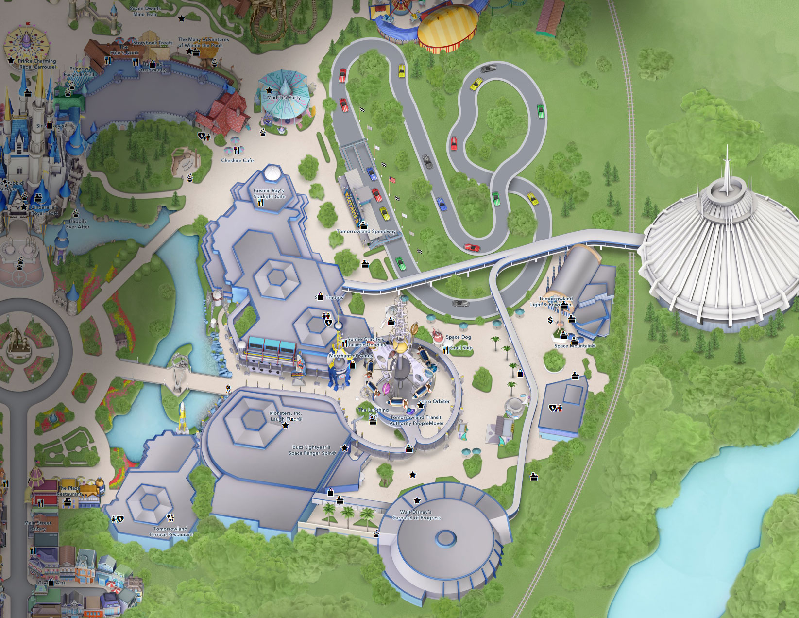 plan tomorrowland disney world florida