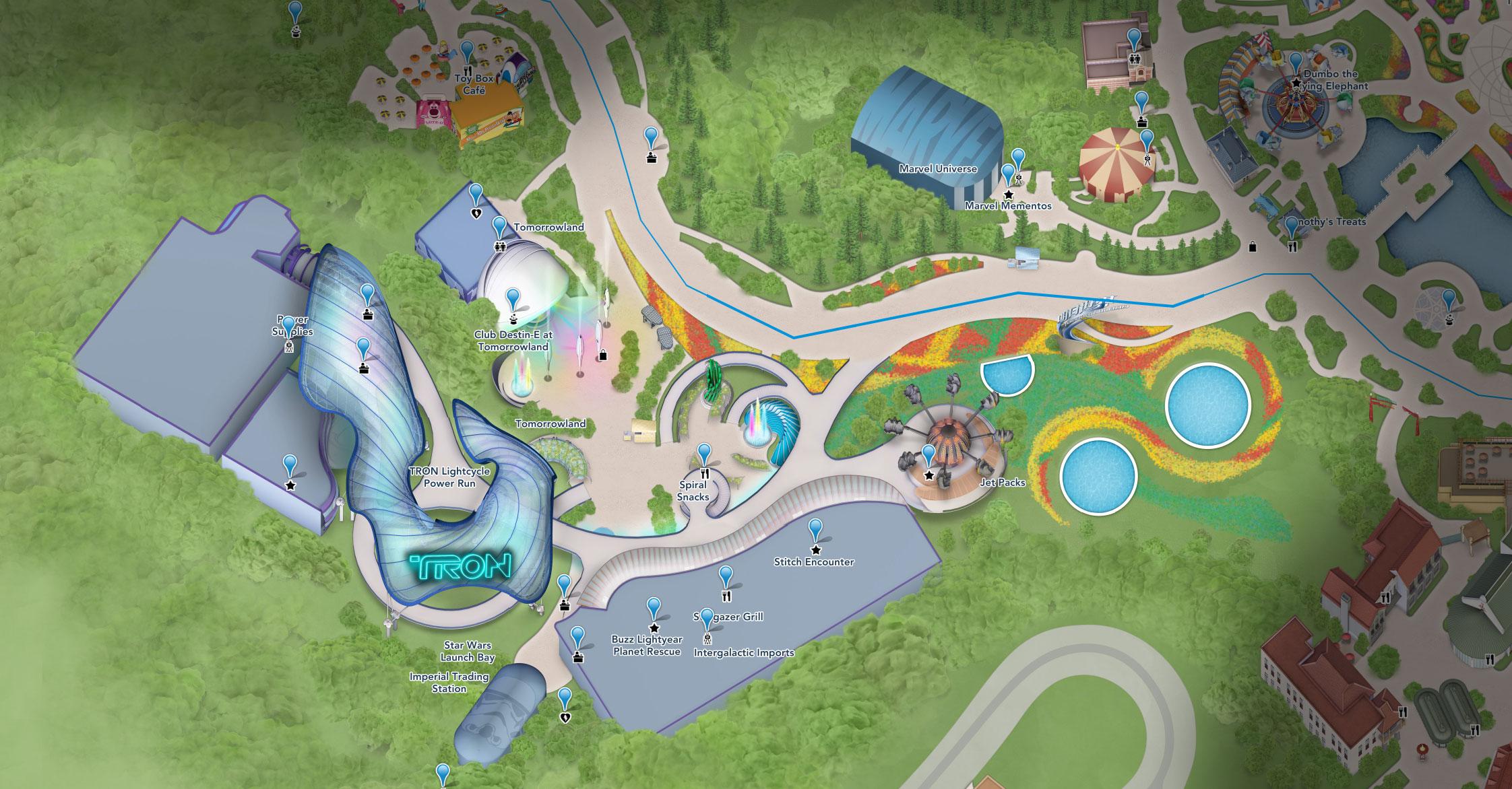plan tomorrowland shanghai disneyland