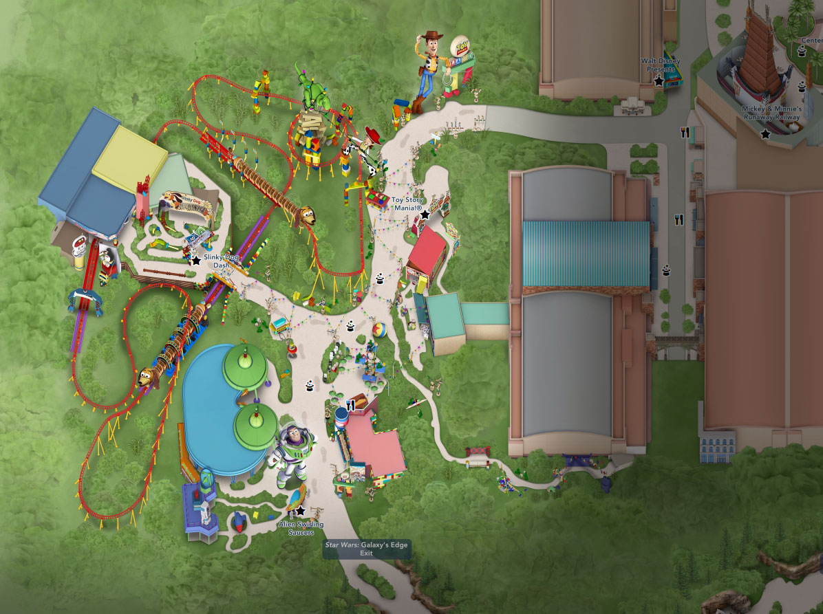 plan toy story land hollywood studios floride disneyland