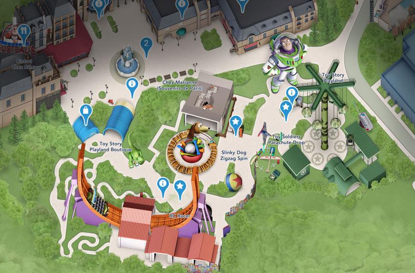 plan toy story playland walt studios disney disneyland paris