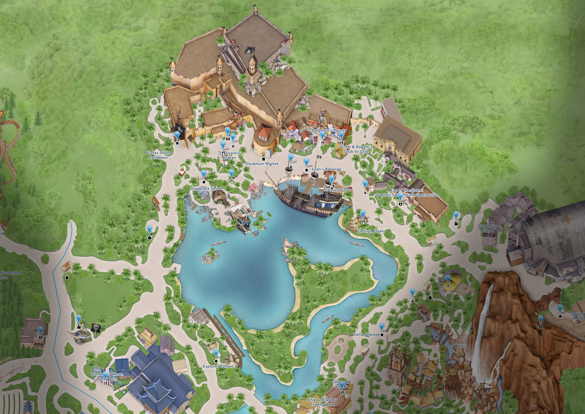 plan treasure cove shanghai disneyland