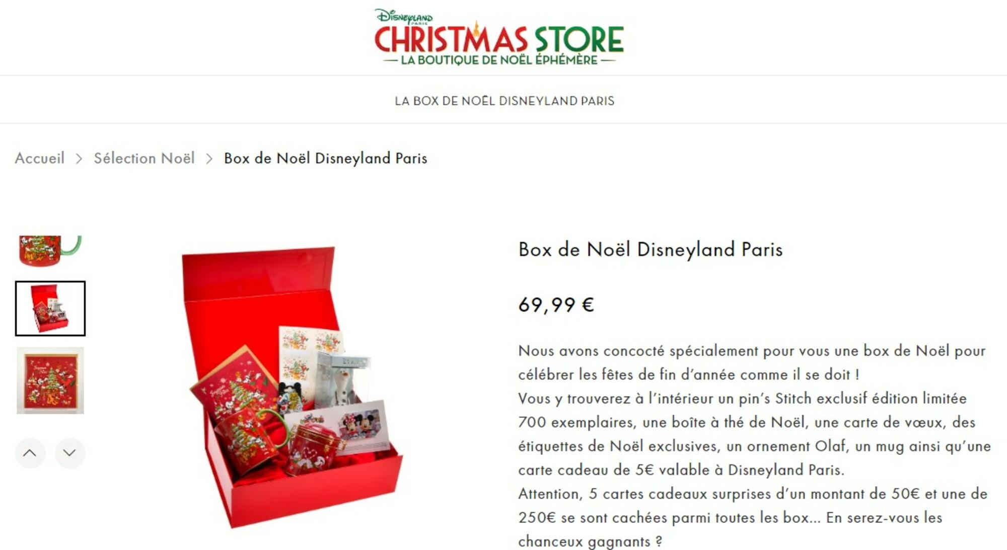 merchandising decembre 2020 disneyland paris