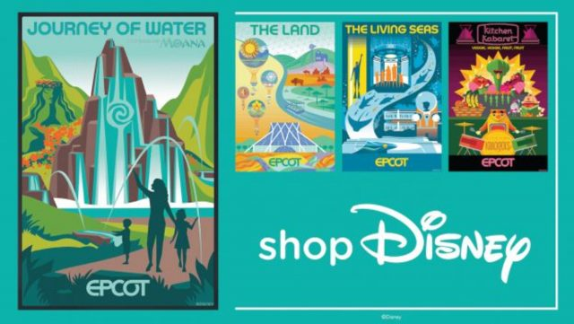 merchandising epcot posters janvier 2021